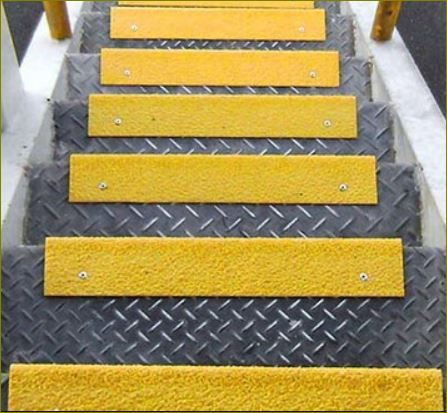 frp anti slip flat sheet floor, fiberglass non slip stair tread nosing cover