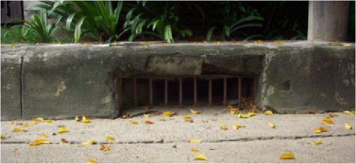 Curbed Drainage Grating Scupper