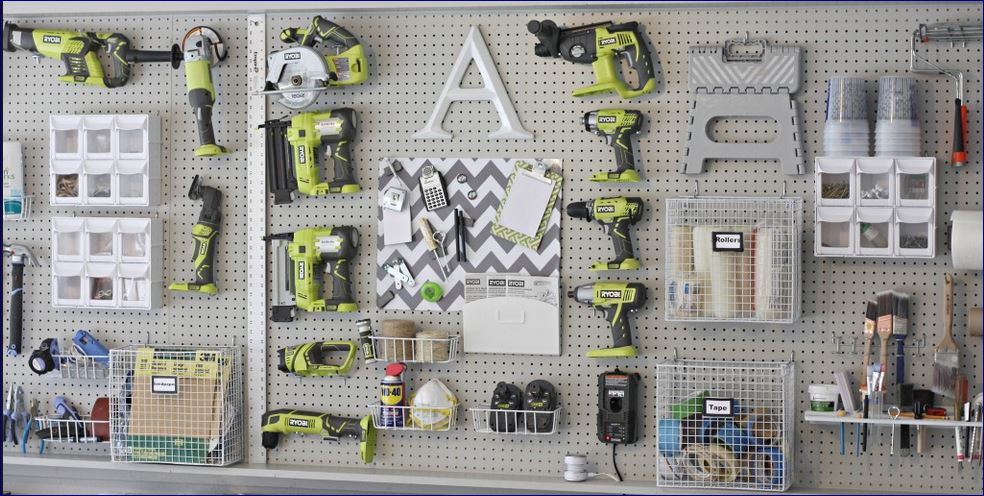 Perforated Pegboard Hook Tools Diy Kit