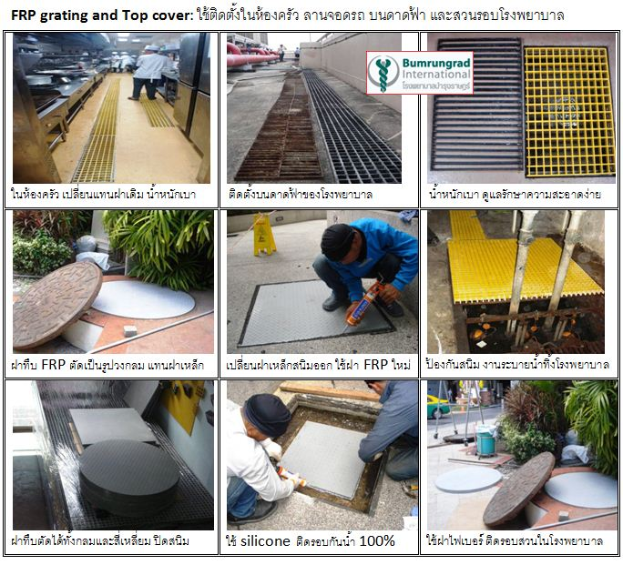 frp steel grating manhole cover