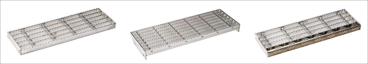 เกรตติ้งชานพักขั้นทางเดินข้างราวบันไดตะแกรงเหล็กฉีก  LadderStairtread Steel Grating