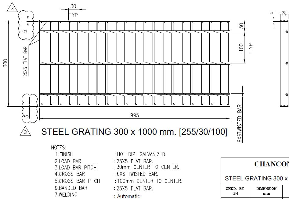 Steel Grating ตะแกรงเหล็ก
