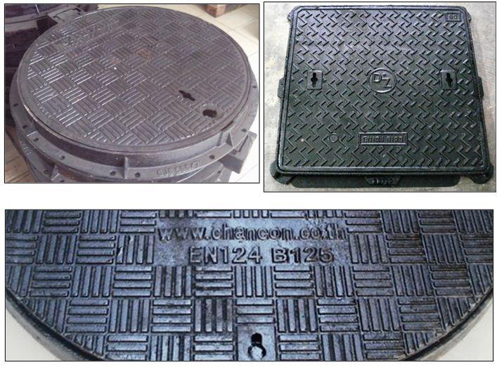 ฝาปิดครอบท่อบ่อพักกรองเกรอะเกรติ้งตะแกรงเหล็กระบายน้ำ sewer drain manhole cover