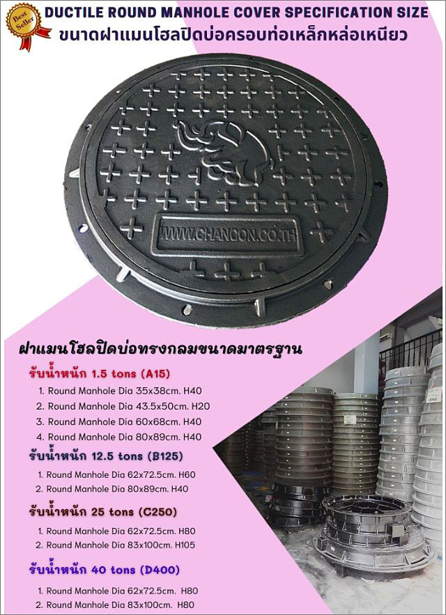 Ductile Cast Iron sewer drain manhole cover
