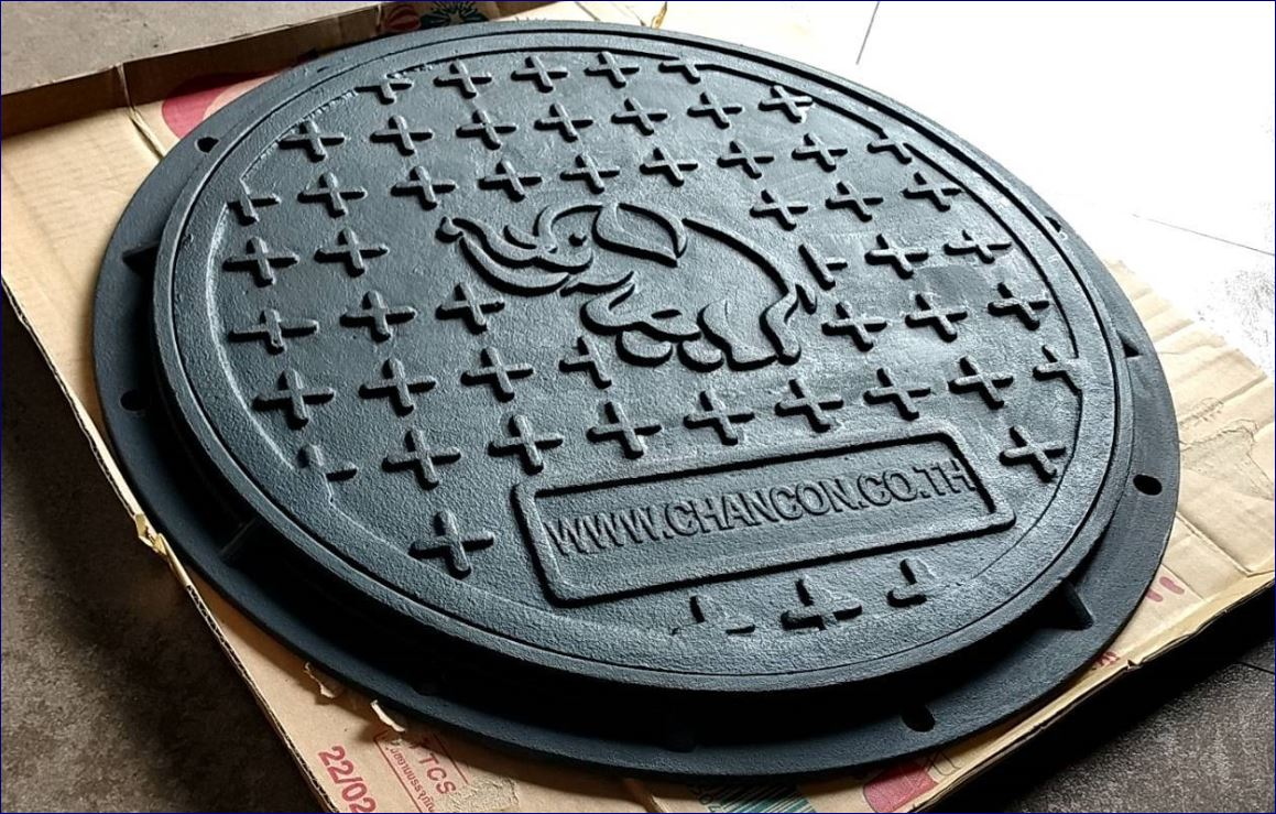 sewer drain manhole cover ฝาปิดบ่อครอบท่อพักระบายน้ำตะแกรงระบายน้ำ