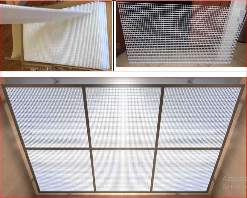 แผงระแนงบังตาหน้ากากอาคาร EggCrateScreen grille filter screen