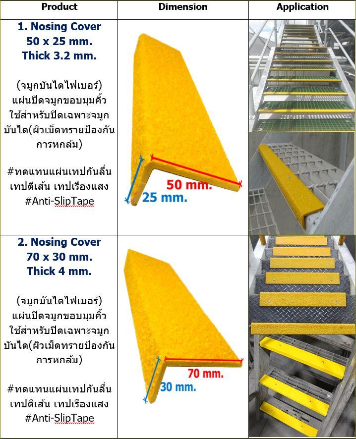 สีอีพ๊อกซี่กันลื่น  Non-Slip Epoxy ทดแทนแผ่นเทปกันลื่นปิดจมูกครอบบันไดผิวกันลื่น  Stair Tread Nosing Step Cover Anti-Slippery Sheeting