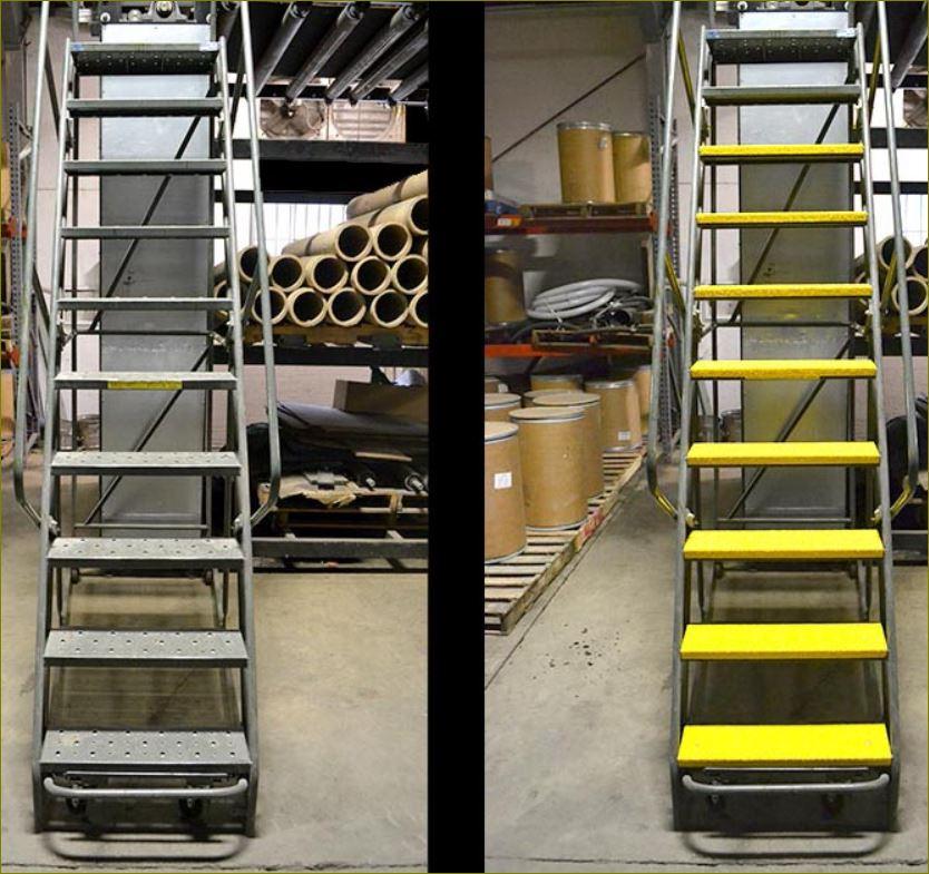 แผ่นครอบบันไดไฟเบอร์กลาสเทปกันลื่น Anti Slip stairways nosing cover