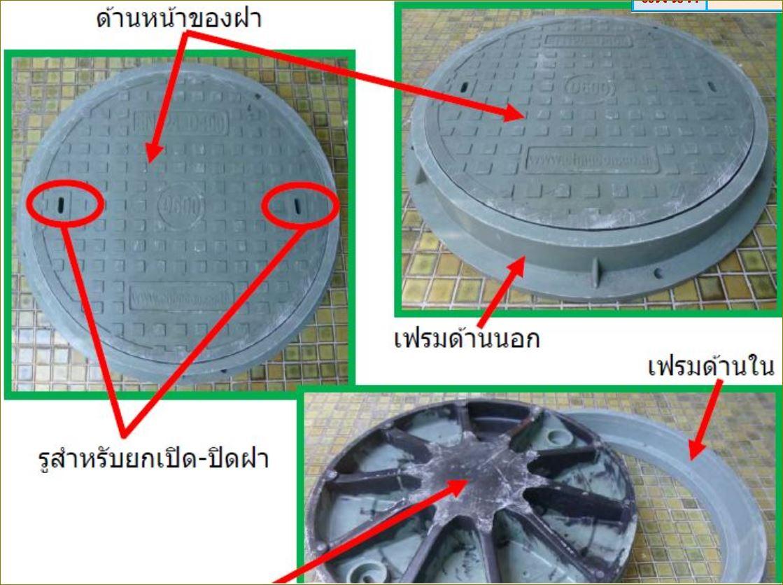 FRP Fibreglass GRating Manhole cover ตะแกรงระบายน้ำเหล็กฝาปิดบ่อท่อพักไฟเบอร์กล๊าส