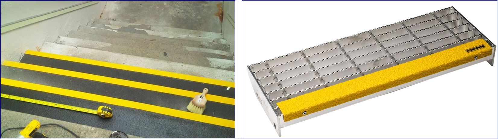 Stair Tread Nosing Step Cover แผ่นเทปตีเส้นเรืองแสงกั้นเขตจมูกขอบมุมคิ้วแผงครอบบันได