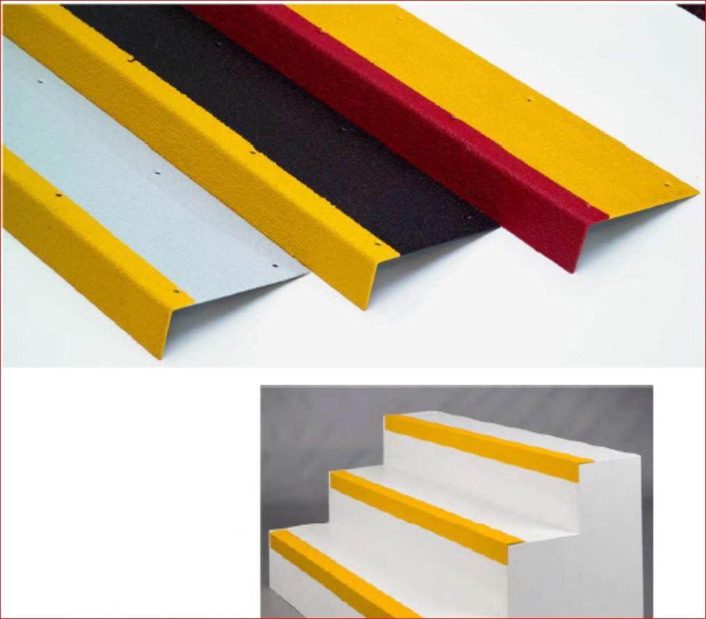 anti slippery safefy walkway สีอีพ๊อกซี่กันลื่น  Non-Slip Epoxy แผ่นกันลื่นปิดผิวปูพื้นเทปตีเส้นเรืองแสงกั้นเขตจมูกขอบมุมคิ้วแผงครอบบันได