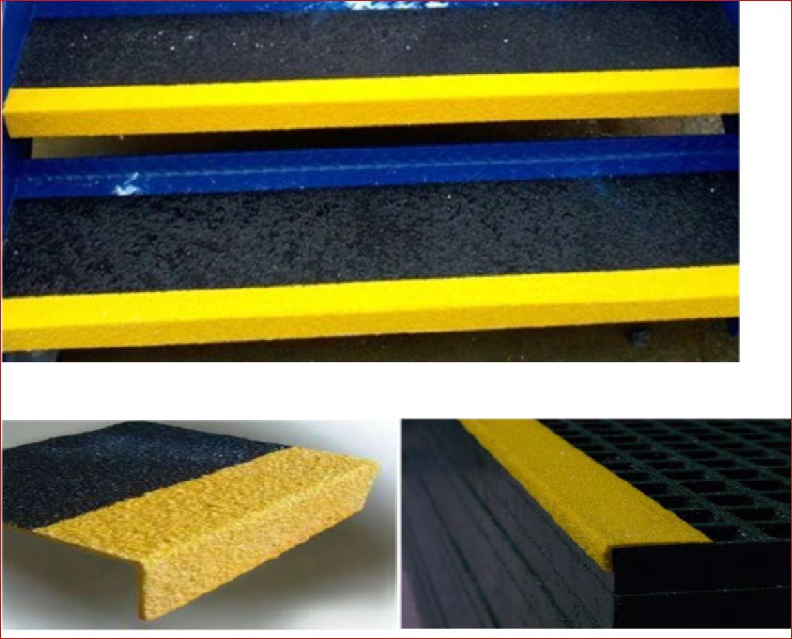 แผ่นปูพื้นปิดจมูกบันไดเหล็ก Anti-Slip Sheeting non skid surface tape outdoor safety walk non slippery