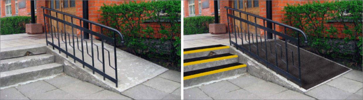 non-slip skid safefy walkway tape cover แผ่นกันลื่นปิดผิวปูพื้นเทปตีเส้นเรืองแสงกั้นเขตจมูกขอบมุมคิ้วแผงครอบบันได