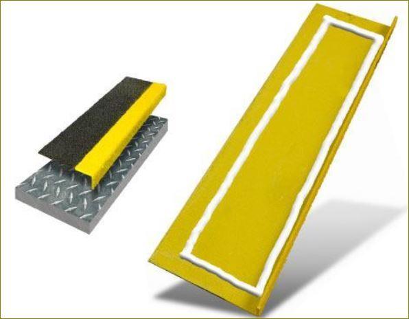 Slip Resistance Tape stair tread nosing fixing แผ่นปิดผิวเทปกันลื่นกั้นเขตตีเส้นสะท้อนแสงปิดจมูกขอบมุมคิ้วแผงครอบบันได
