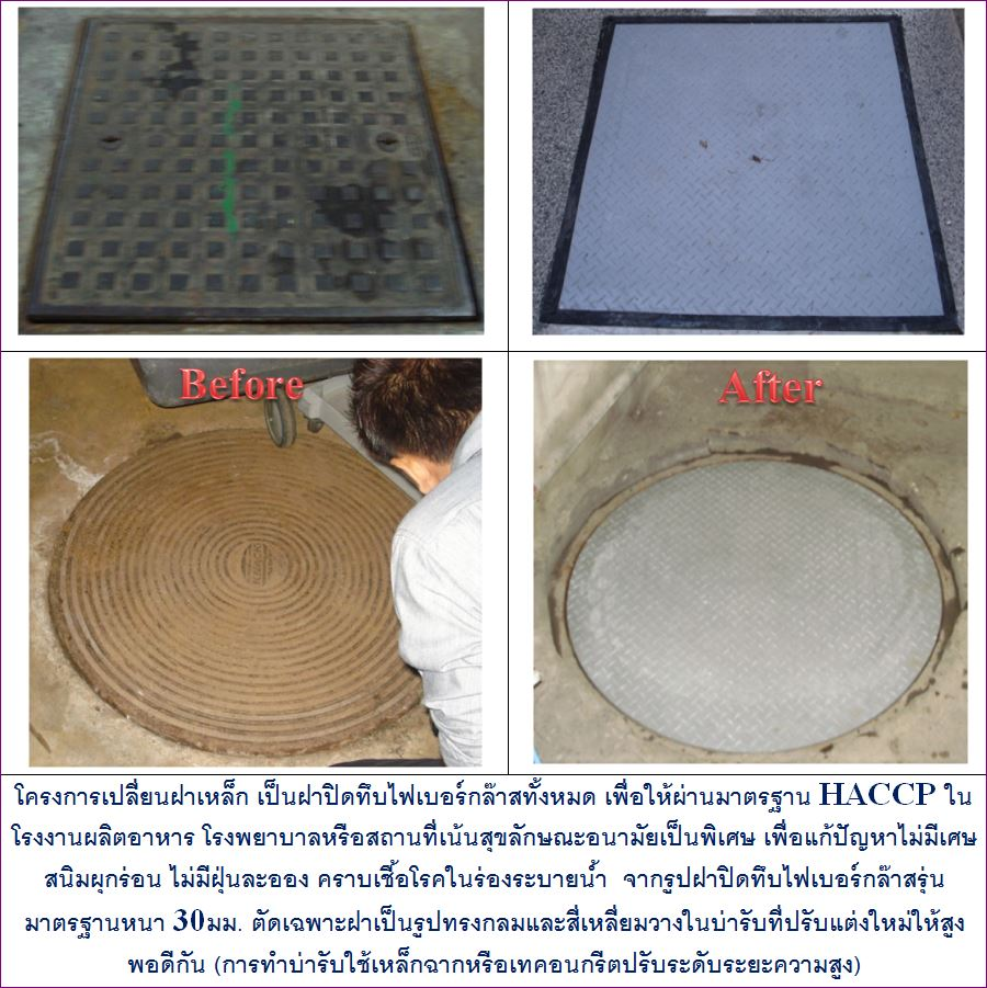 FRP Fiberglass Manhole Cover grating เกรตติ้งตะแกรงระบายน้ำฝาปิดครอบท่อบ่อพักกรองเกรอะ