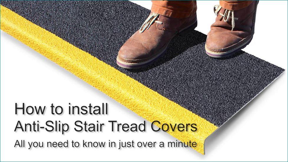 Anti-Slip safety walkway Tape แผ่นเทปกันลื่น ปิดจมูกขอบมุมคิ้วแผงครอบบันไดกันลื่นไฟเบอร์กล๊าส
