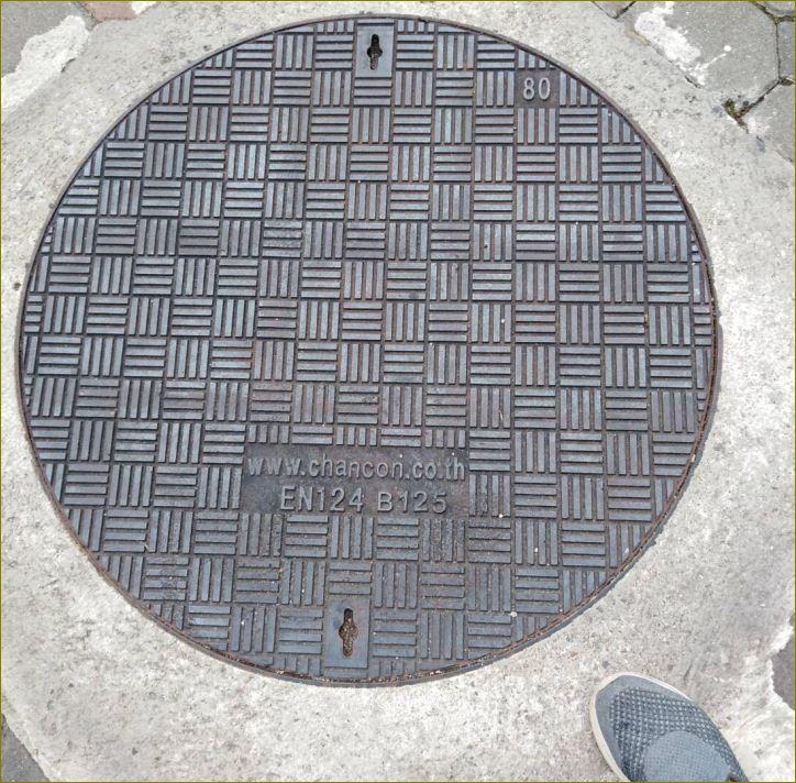 grating Manhole cover เกรตติ้งฝาปิดบ่อแมนโฮลท่อพักระบายน้ำเหล็กหล่อไฟเบอร์กล๊าส