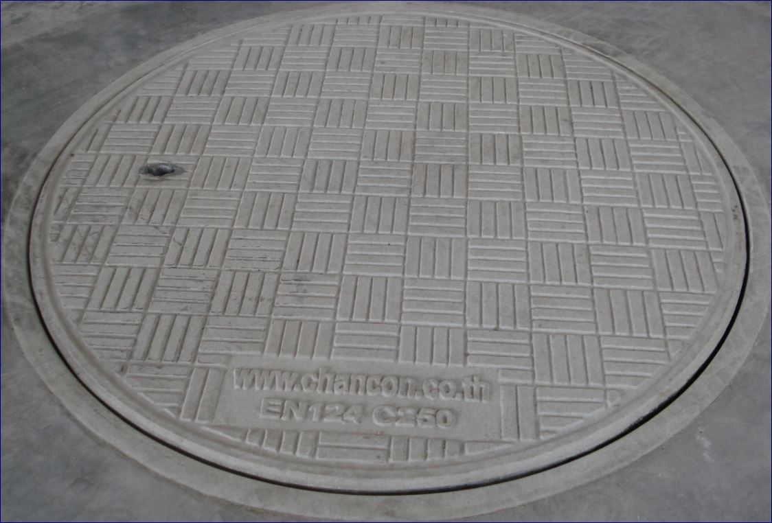 ตะแกรงระบายน้ำเหล็กฝาปิดบ่อท่อพักไฟเบอร์กล๊าส gratingmanholecover