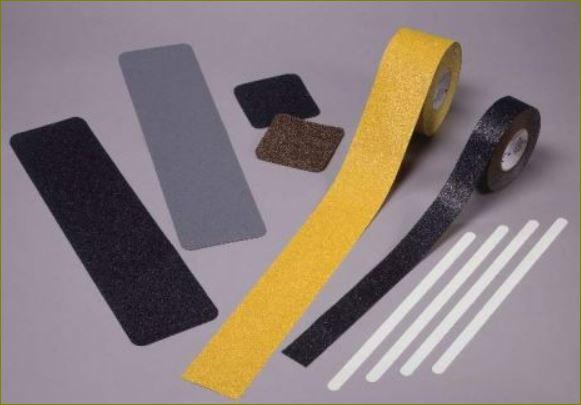แผ่นเทปปูพื้นกันลื่นไฟเบอร์กล๊าสปิดจมูกขอบมุมคิ้วแผงครอบบันไดเหล็ก non-slip resistant stairtread tape