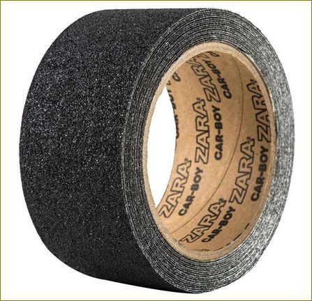 non-slip resistant tape เทปปูพื้นกันลื่นปิดจมูกขอบมุมคิ้วแผงครอบบันไดเหล็ก