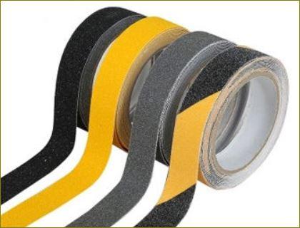 แผ่นปิดผิวเทปกันลื่นกั้นเขตตีเส้นสะท้อนแสงปิดจมูกขอบมุมคิ้วแผงครอบบันได Non Slip Tape Sheet Cover