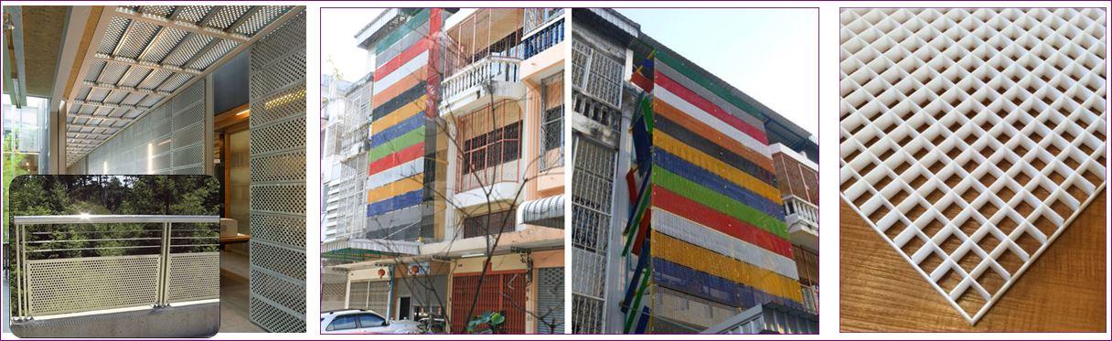 facade cladding aluminium composite หน้ากากอาคารตึก