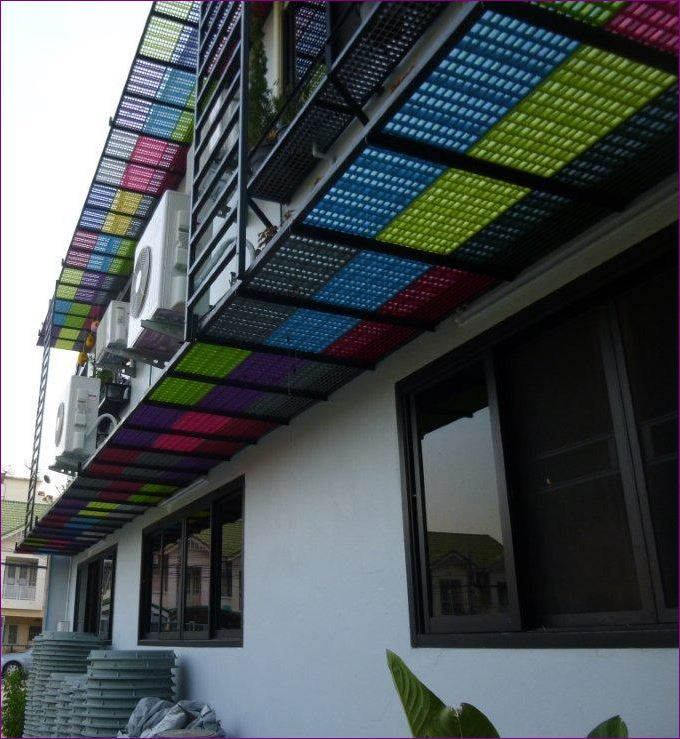 perforated facade wiremesh aluminium composite หน้ากากอาคารตึก ตะแกรงไฟเบอร์กล๊าส