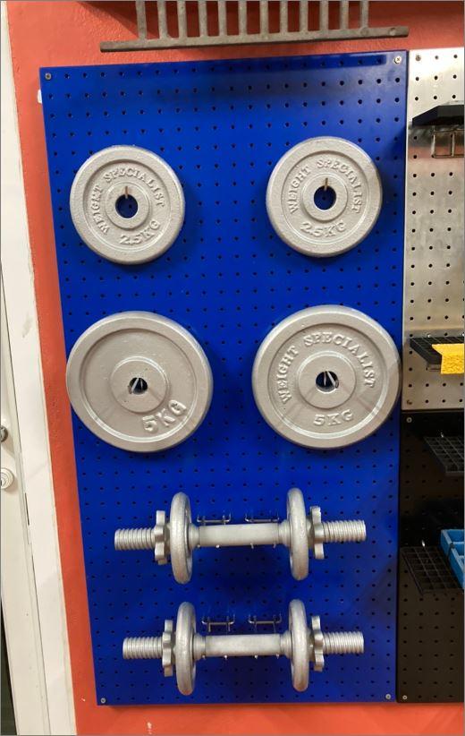 Peg board แผ่นกระดานเพ็กบอร์ด แขวนเก็บอุปกรณ์เครื่องมือช่าง