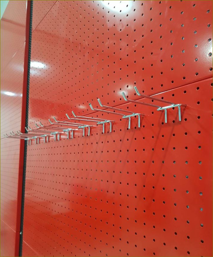 Hooks shelves Pegboard แผงกระดานเพ็กบอร์ดฮุกตะขอลวดขาแขวน