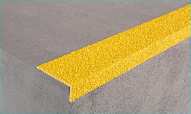 สีอีพ๊อกซี่กันลื่น  Non-Slip Epoxy แผ่นเทปกันลื่น ปิดจมูกขอบมุมคิ้วแผงครอบบันไดกันลื่นไฟเบอร์กล๊าส  FRP Stair Tread Nosing Step Cover