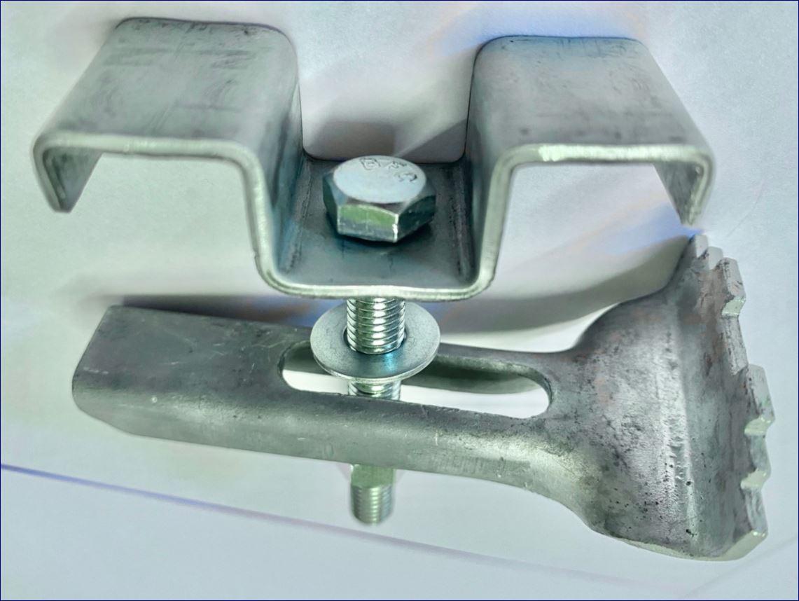 ประกับ ตัวล็อค ตัวต่อ ตัวยึด ตัวแขวน ตัวรับเกี่ยว ตัวคลิปล็อคยึดจับแผ่นตะแกรงเหล็ก fastenersaddlecliplock Fixedgrating