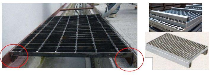 ฝาปิดบ่อครอบท่อพักตะแกรงเหล็กเกรตติ้งระบายน้ำ grating clip lock FRP Steel