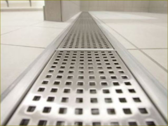 Trench drain Steel Metal Perforated Stainless Aluminium Grating ตะแกรงแสตนเลสอลูมิเนียมเหล็กแผ่นเจาะรู