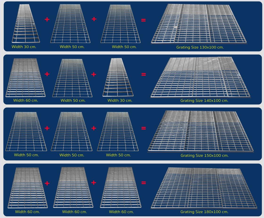 made-to-order steel grating heavy duty load Steel Grating  สั่งผลิตขนาดพิเศษตะแกรงเหล็กเกรตติ้งระบายน้ำ