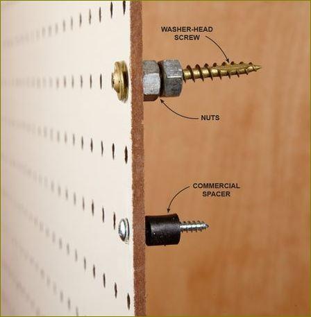 toolPegboard กระดานเพ็กบอร์ด Hooksฮุกตะขอลวดขาแขวนเพ็คบอร์ด