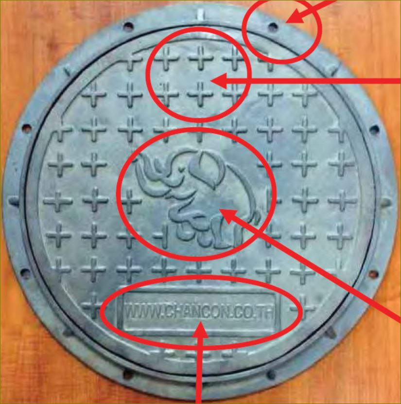 ฝาบ่อพักเหล็กหล่อปิดท่อระบายน้ำ cast iron ductile ManholeCOVER Grating