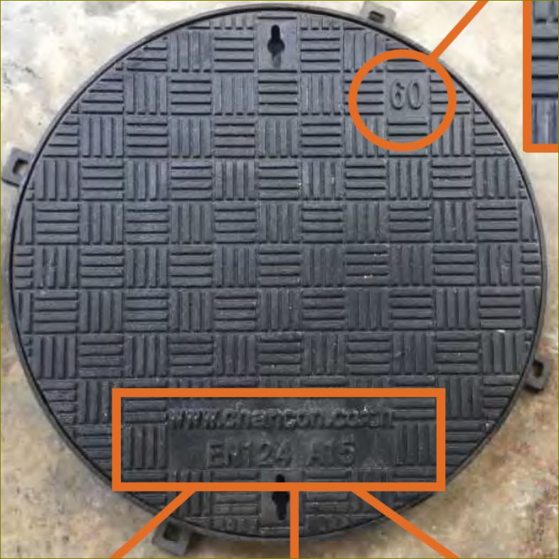gfrp ductile ManholeCOVER Grating ฝาบ่อพักเหล็กหล่อปิดท่อระบายน้ำ