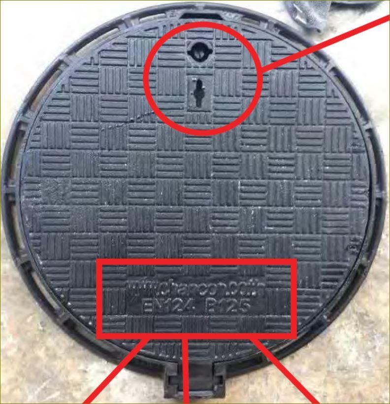gFRP cast ฝาบ่อพักเหล็กหล่อปิดท่อระบายน้ำ    ManholeCOVER Grating