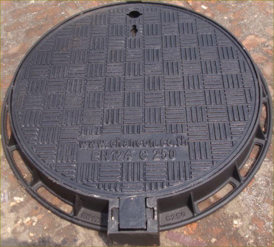 FRP cast ductile iron ฝาบ่อพักเหล็กหล่อปิดท่อระบายน้ำ  ManholeCOVER Grating