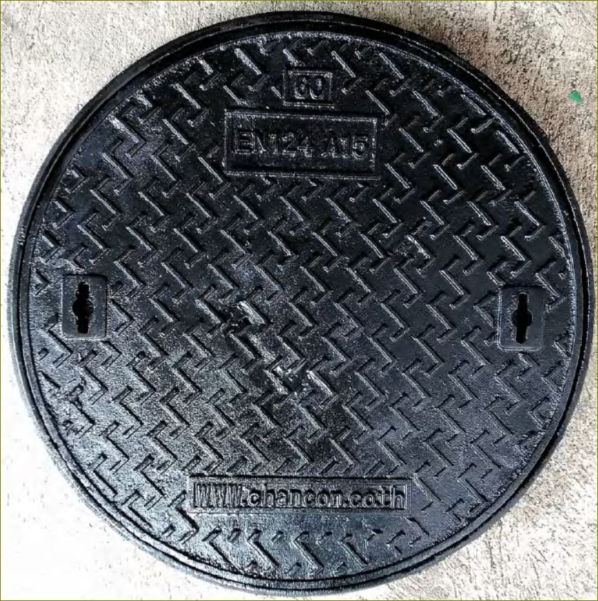 sewer drain ductile manhole cover Grating ฝาปิดบ่อพักท่อระบายน้ำเหล็กหล่อเหนียว