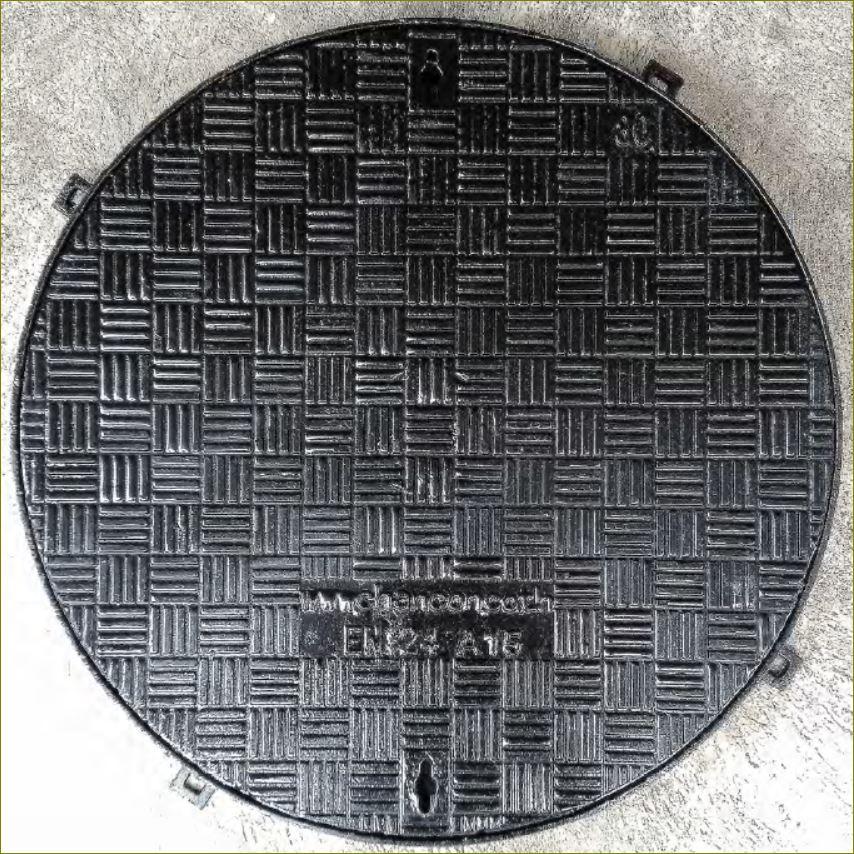castductile manhole cover เกรตติ้งฝาปิดบ่อพักท่อระบายน้ำเหล็กหล่อเหนียว