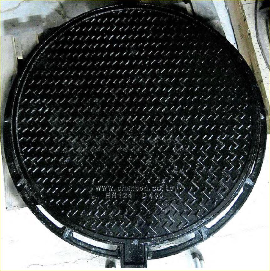 sewer drain CastIronductile manhole cover เกรตติ้งตะแกรงฝาปิดบ่อพักท่อระบายน้ำเหล็กหล่อเหนียว