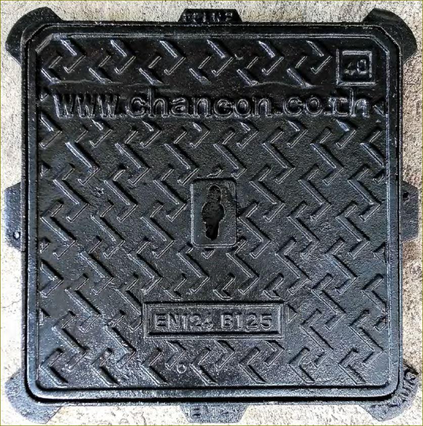 Cast iron Ductile manhole cover เกรตติ้งตะแกรงฝาปิดบ่อพักท่อระบายน้ำเหล็กหล่อเหนียว
