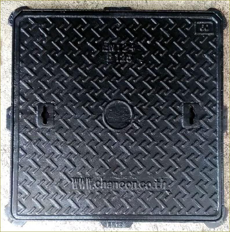 ฝาท่อระบายน้ำเหล็กหล่อเหนียวเกรตติ้งตะแกรง CastDuctile Iron Manhole Covers Frames
