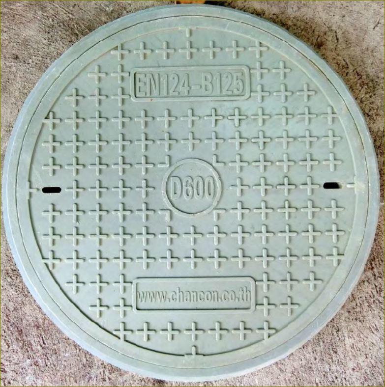 ตะแกรงระบายน้ำเหล็กฝาปิดบ่อท่อพักไฟเบอร์กล๊าส  gFRP Grating Fiberglass manhole cover