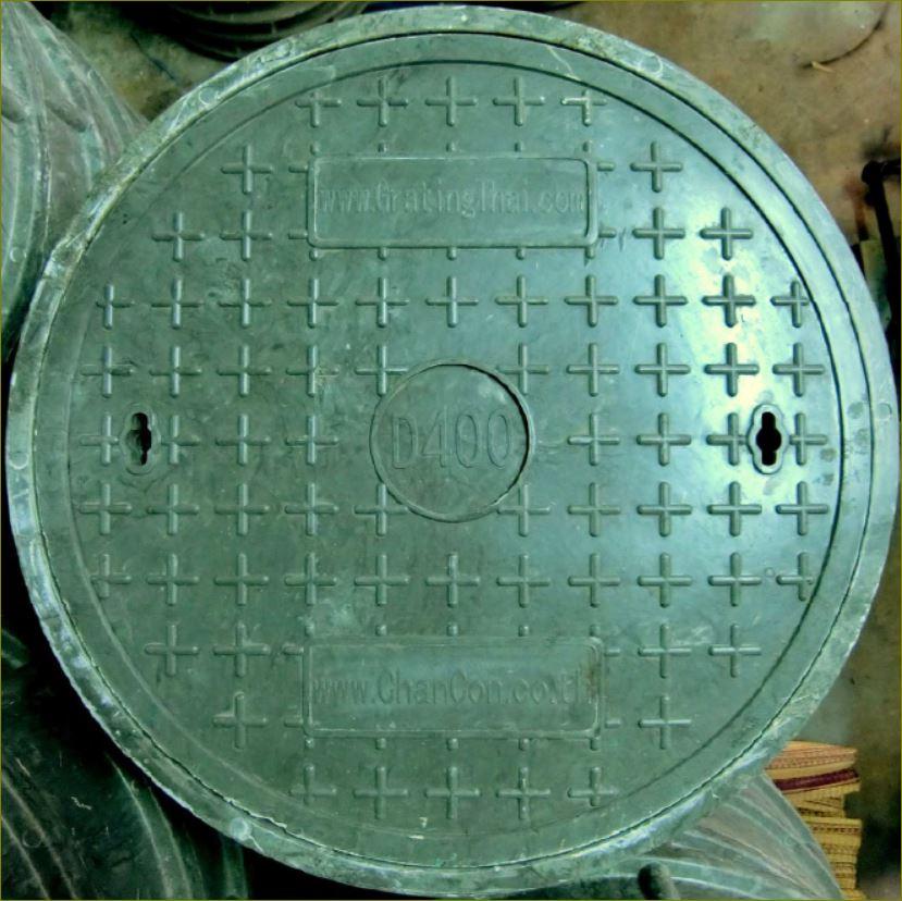 ตะแกรงระบายน้ำเหล็กฝาแมนโฮลปิดบ่อท่อพักไฟเบอร์กล๊าส FRP Composite Fiberglass manhole cover grating