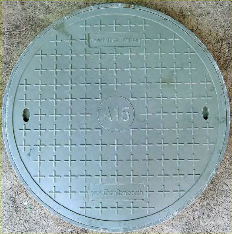 FRP Composite Fiberglass GRating ฝาแมนแฮนโฮลตะแกรงปิดบ่อท่อพักไฟเบอร์กล๊าส  manhole cover