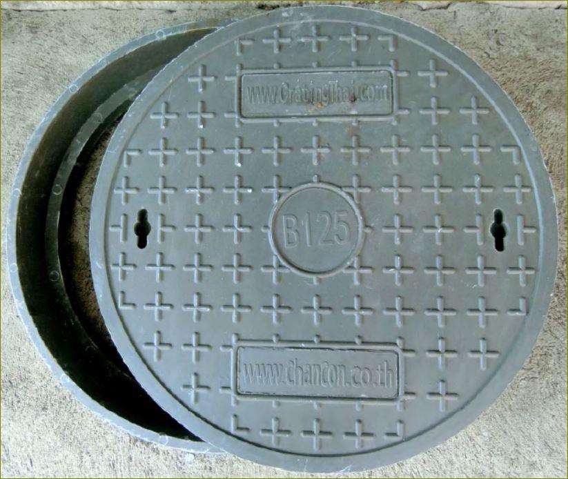 ฝาปิดท่อระบายน้ำ ManholeCOVER frp Grating ฝาบ่อพักเหล็กหล่อ