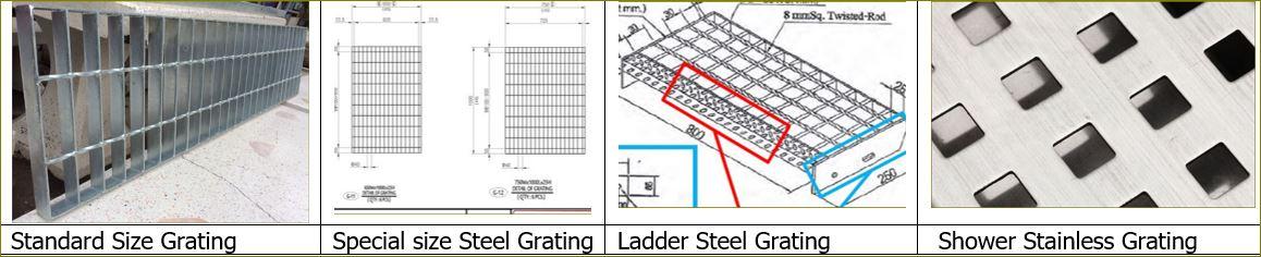 ตะแกรงบ่อครอบท่อพักระบายน้ำ เทปกันลื่น เพ็กบอร์ด  PegBoard FRP Steel Grating Anti-slip Tape stair tread