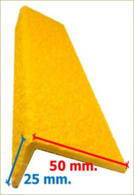 FRP Stair Tread Nosing แผ่นปิดจมูกบันได แผ่นปิดพื้นผิวกันลื่นไฟเบอร์กล๊าส